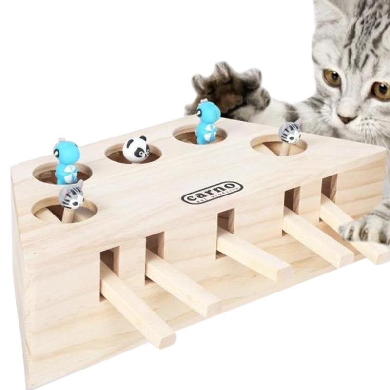 """It's like """"Whack A Mole"""" for cats! This toy keeps your kitty slapping for hours as they try and catch the mouse when they hit levers on the side. Durably made and lasts for a long time. They'll love it.  https://t.co/9aaX7Sijgl #pets #dogs #cats https://t.co/lU4nzRfFLI https://t.co/EePvcVcmbh"""