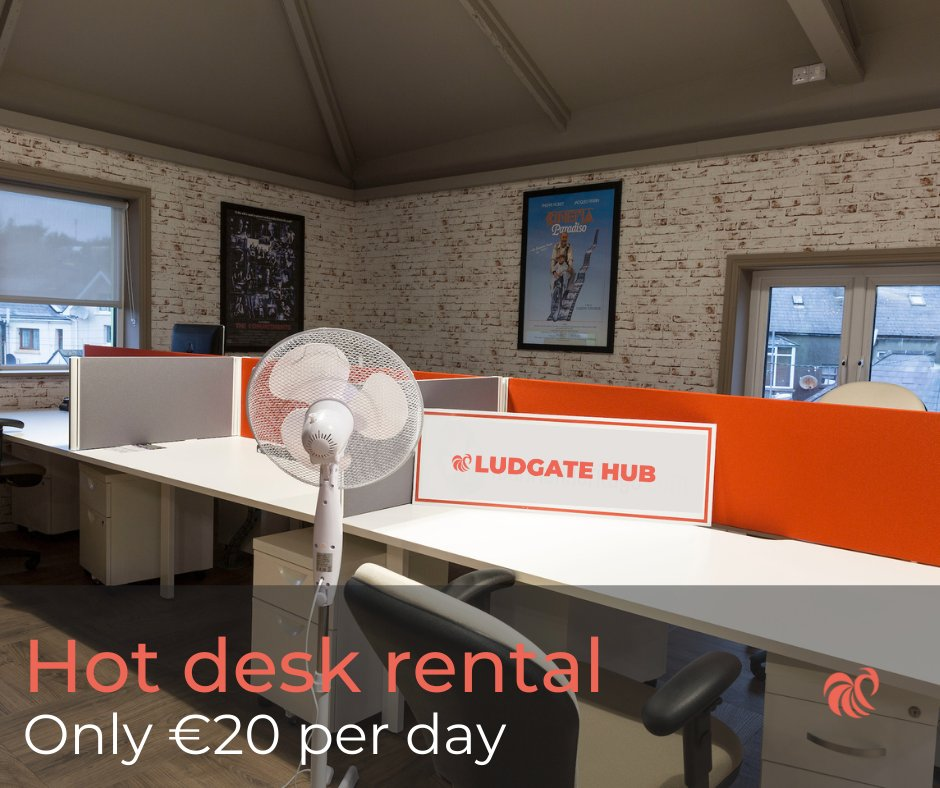 Rent a hot desk at Ludgate for as little as *€20 a day. (*+VAT). Visit us at https://t.co/1V5tg2WBen or contact us by Phone/Email for further details.   #Backedbyaib #Vodafone #HereToStay #Hotdeskrental #deskrental #remoteworking #workingfromhome #officespace Terms & Conditions* https://t.co/tFUR5AWTzg