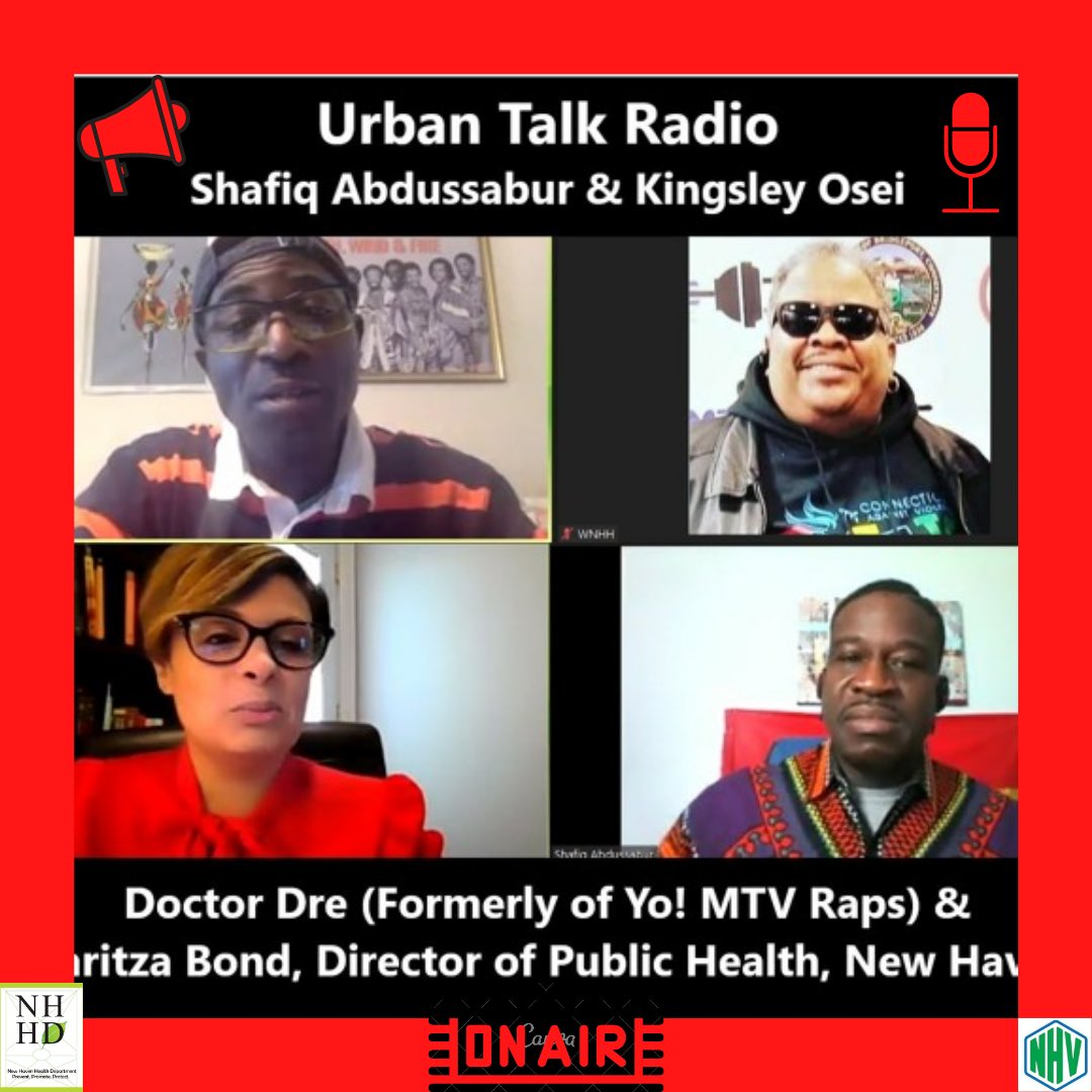 Listen to our Director of Health, @MaritzaBondmph on Urban Talk Radio 103.5 FM WNHH with Shafiq Abdussabur, Kingsley Osei, and Doctor Dre! She discussed the impact of COVID-19 in the community of New Haven! Thank you to the hosts! Click here to listen https://t.co/bXFPXjZ0Oy https://t.co/5fD03S6Pky