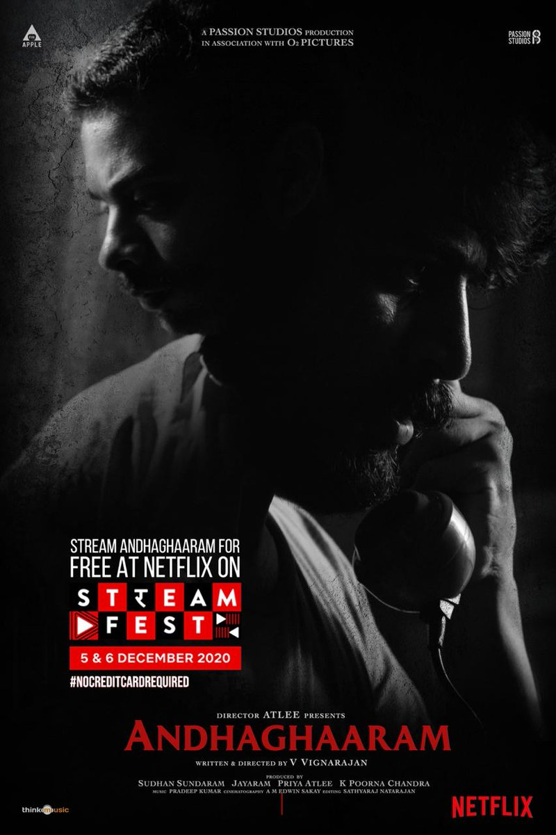 On December 5 & 6, Cancel all your other plans because Netflix is streaming for free.   *No Debit or Credit card details required *.   So now Binge watch #Andhaghaaram on Netflix for free during this weekend.  #Vikatan Rating  44/100  @Atlee_dir @PassionStudios_  @priyaatlee