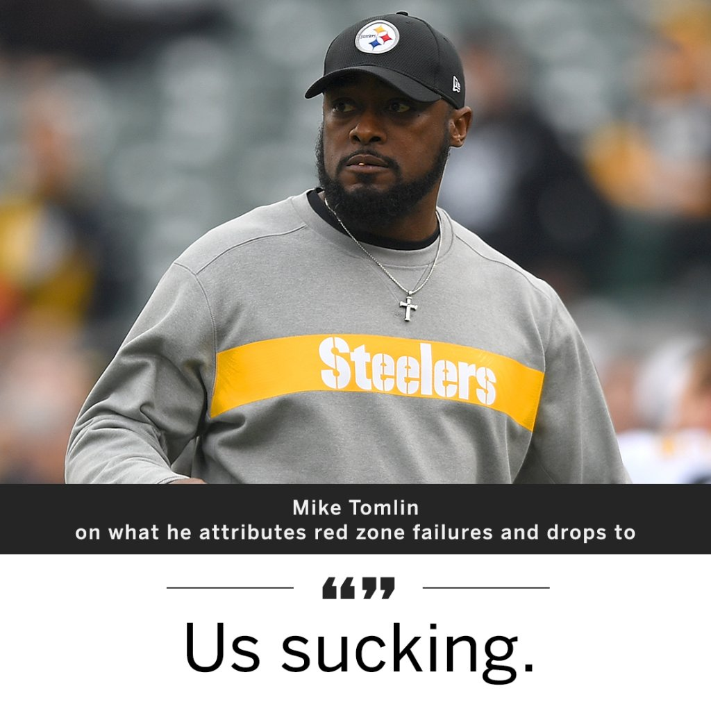 Mike Tomlin gave an honest answer as to why the Steelers struggled in the red zone and with drops.
