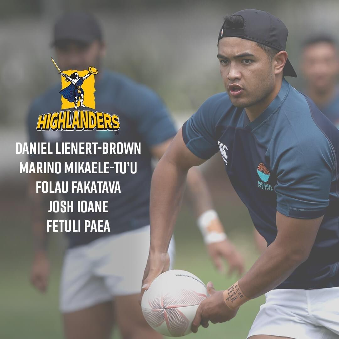 Five Highlanders named in the Moana Pasifika Rugby side to take on the Maori All Blacks in Hamilton 👏 Who's looking forward to this rugby spectacle on Saturday? 🔥  #WeAreHighlanders https://t.co/tJKFd68GMM