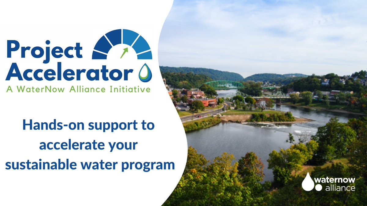 Are you working to design, fund, or launch an innovative local water program that would benefit from some pro-bono support? Apply by Dec 14 for @WaterNowOrg's Project Accelerator and receive up to 250 hours of assistance! https://t.co/RvJkv69APD #GSI #WaterReuse https://t.co/rokf4B2JuB