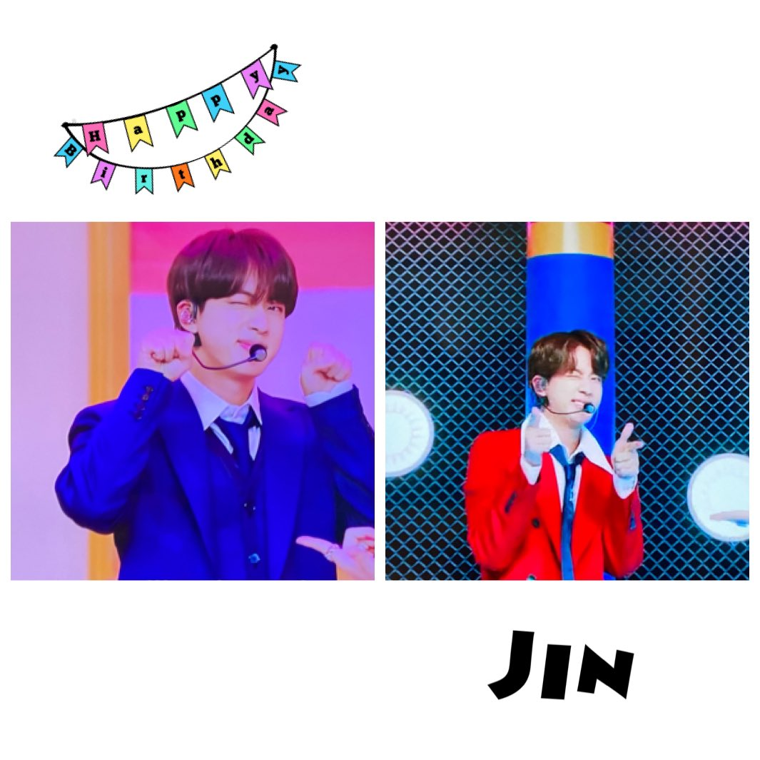 """Jinくんお誕生日おめでとう🎂 キラキラな笑顔にたくさんのパワーを もらえています(⋆ᴗ͈ˬᴗ͈)"""" Jinくんの幸せをこれからも願っています💜 感謝の気持ちをこめて… 2020-12-04 #HAPPYJINDAY  #HappyBirthdayJin  #HAPPYJINDAY_1204"""
