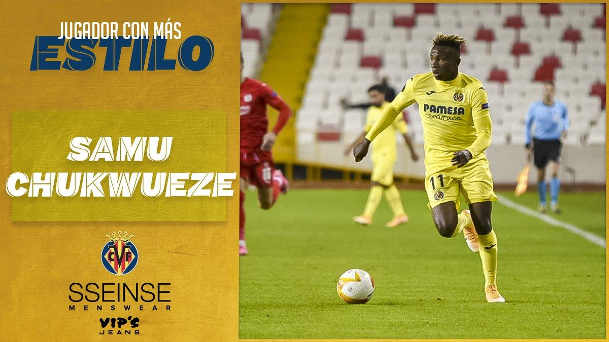 #UEL | Y el Jugador Más Elegante ante el @SivassporKulubu ha sido...  ¡¡¡El autor de gol, @chukwueze_8 👏👏👏!!!
