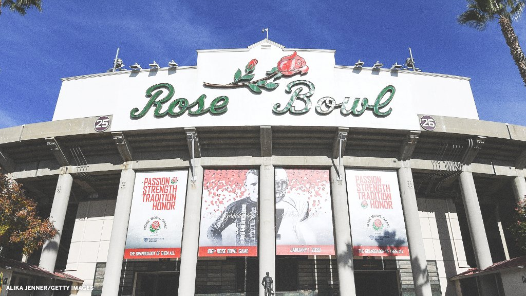 No spectators will be allowed at the Rose Bowl for the College Football Playoff semifinal on Jan. 1 because of COVID-19 restrictions imposed by the state, county and city of Pasadena.