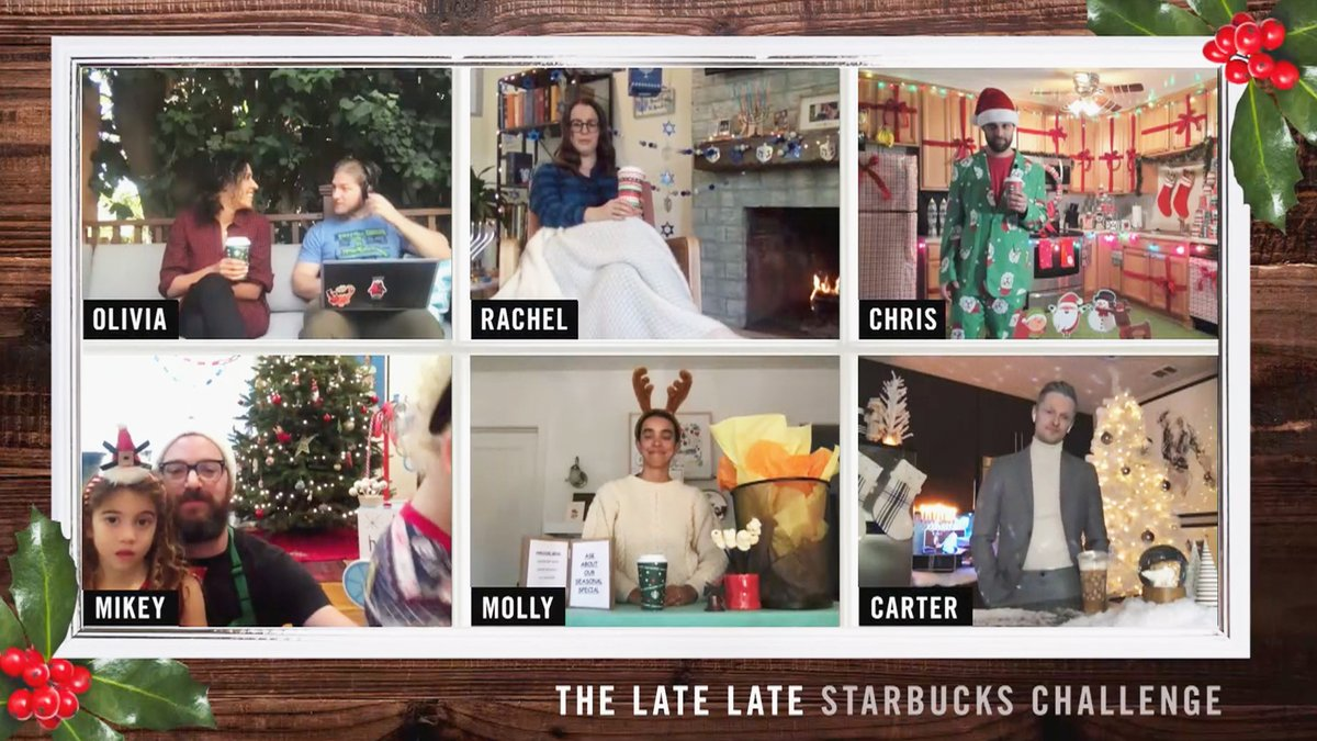 We challenged a few #LateLateShow staffers to recreate their favorite @Starbucks experiences at home and the results are a sight to be seen! #sponsored  Presented by Starbucks
