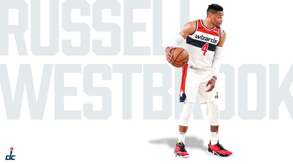 The Wizards announce that Russ will change to No. 4. (via @WashWizards)