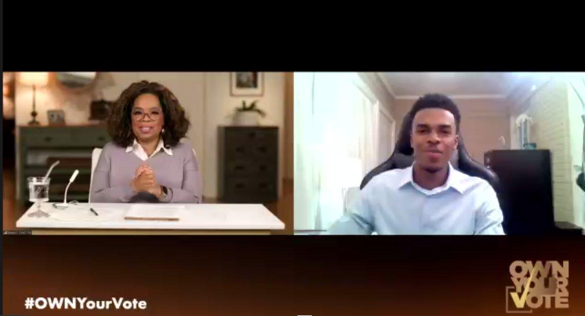 @Oprah and @SMASHprogram Morehouse scholar Jalil #OwnYourVote