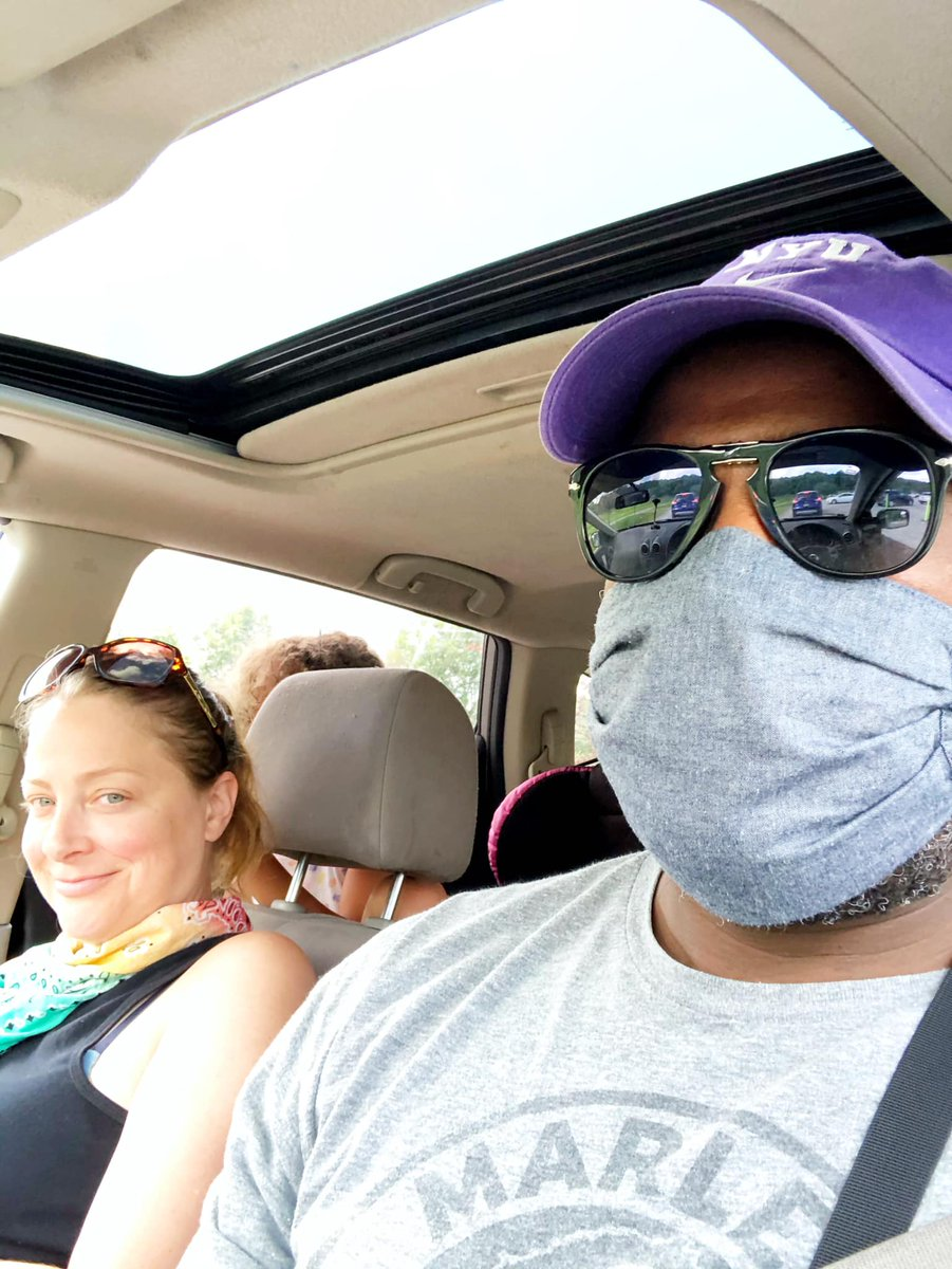 #MyMaskCovers My wife is thinking why is he wearing a mask in the car?