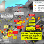 Image for the Tweet beginning: #ASX Announcement: Kairos Minerals Ltd