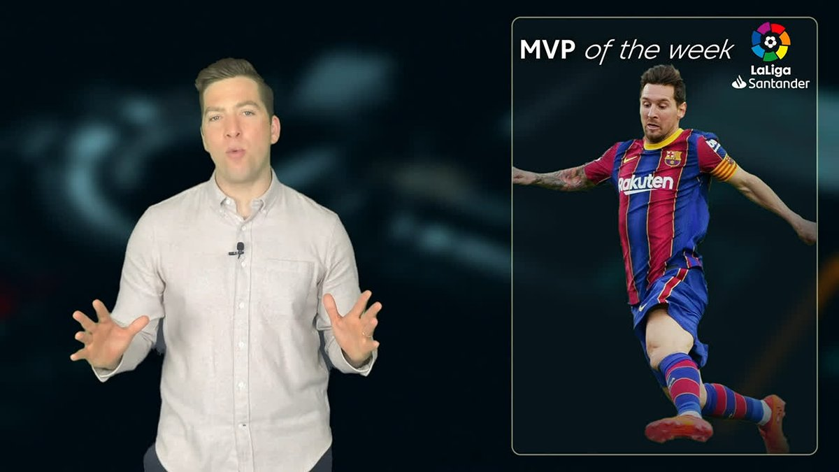 It had to be him... ✨  For his outstanding performance and his special tribute to Maradona, Messi is @kev_egan's MVP of the week! 💙🌟❤️  #LaLigaAmerica