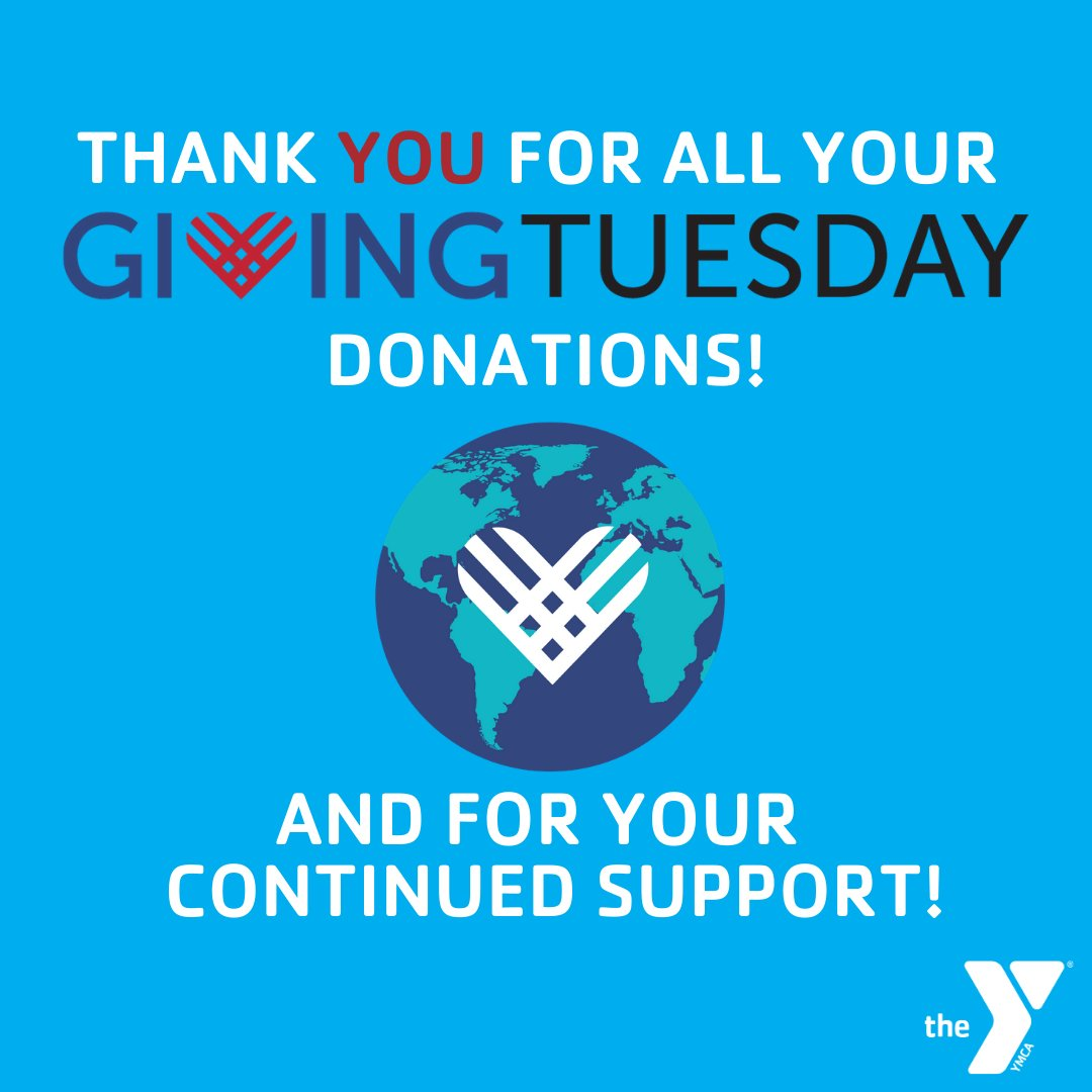 Thank YOU so much for all your donations and continued support! Your gift allows the Y to provide families and individuals the opportunity to achieve their full potential. We couldn't do what we do without you! ❤️  #givingtuesday #togetherwecan #unleashgenerosity #lawcoymca