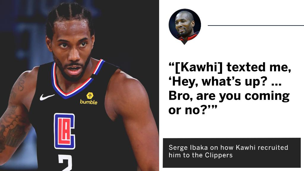 Serge shared how Kawhi recruited him to the Clippers 😅