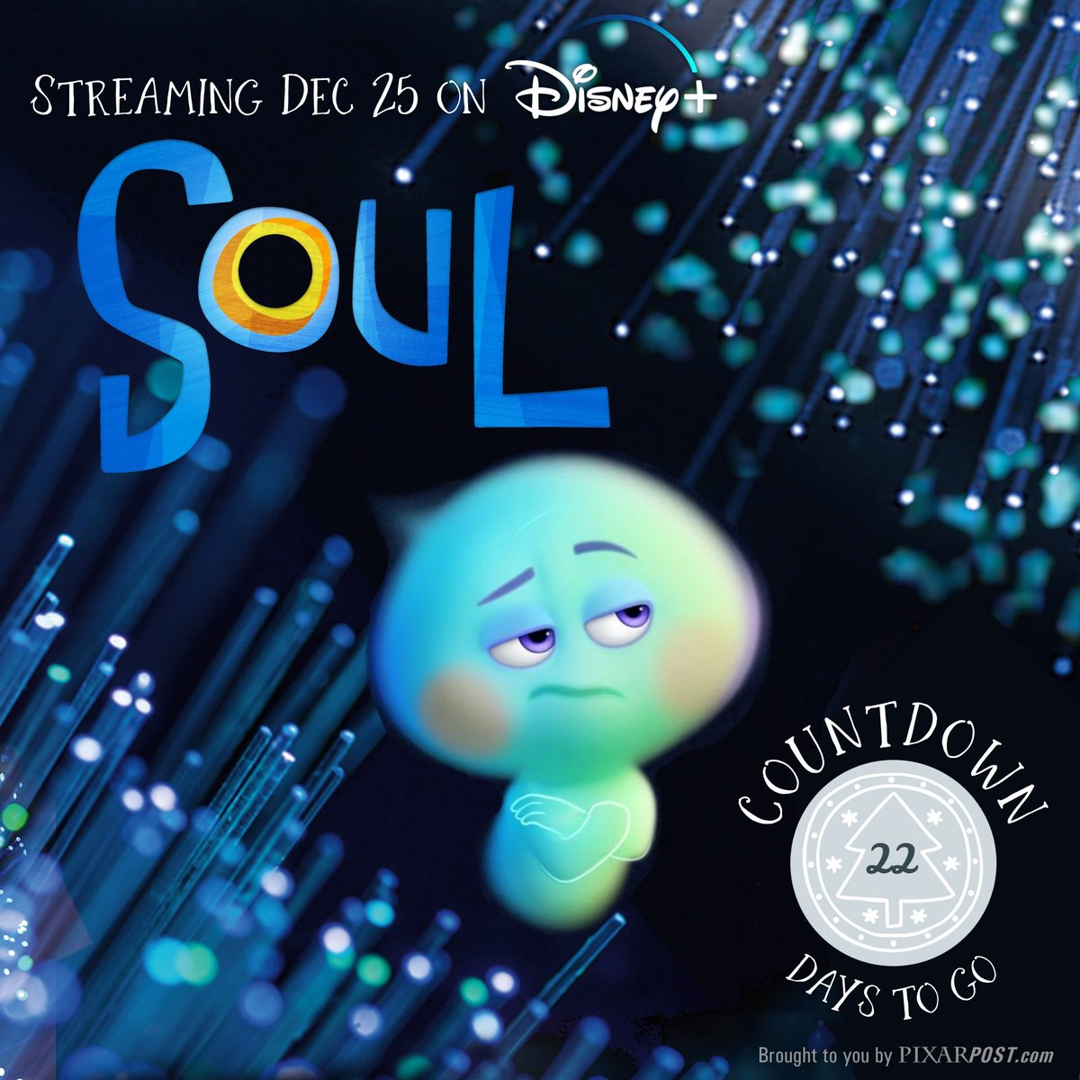 "Since there are only 22 days until Soul streams on @disneyplus, we thought it only fitting to share a fact about 22 on today's #CountdownToSoul  Did you know her full name is actually, ""86 billion, 783 million, 123 thousand, five hundred and 22""?  #Pixar #DisneyPixar #PixarSoul"