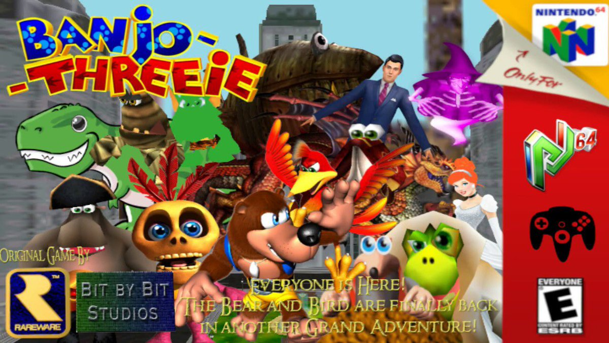 Despite having many flaws this hack still got noticed very well and kinda set my channel to where it is now! I'm happy to announce that today marks the 1 year anniversary of the hack! #banjokazooie #banjotooie #banjothreeie #rare #n64 #modding