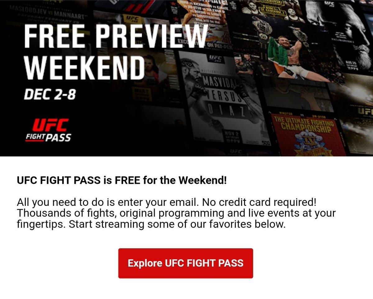 ***ICYMI***  @UFCFightPass is FREE right now!  🔗  #UFC #UFC255 #UFC256 #UFCVegas15 #UFCFightPass