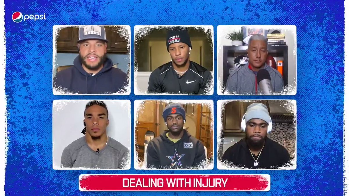 .@Dak Prescott and @Saquon Barkley give advice to NFL rookies about how they're dealing with injuries this season in a @pepsi Rookie Roundtable.