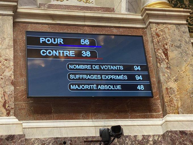 Proposition de loi rejetée à la majorité