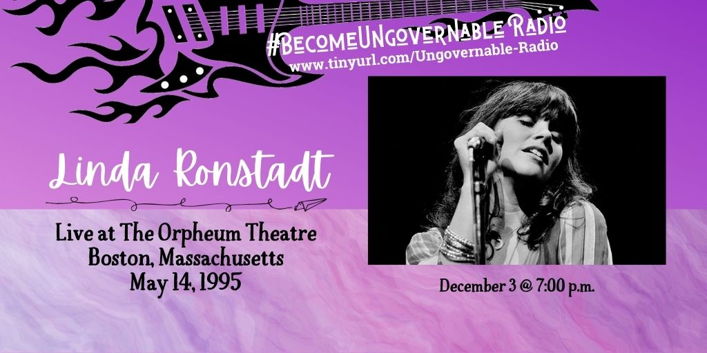 Up at 7:00 p.m., it's Linda Ronstadt with special guest Valerie Carter at The Orpheum in Boston, vintage 1995.  https://t.co/cTXXruAi8U https://t.co/Ghvhw7wQUj
