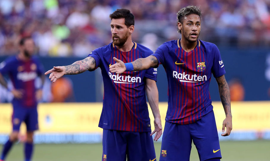 """🗣️""""I want to play with him next year, for sure. We have to do it next season.""""  Neymar wants Lionel Messi at PSG! Could it happen? 👀   More:   #bbcfootball"""