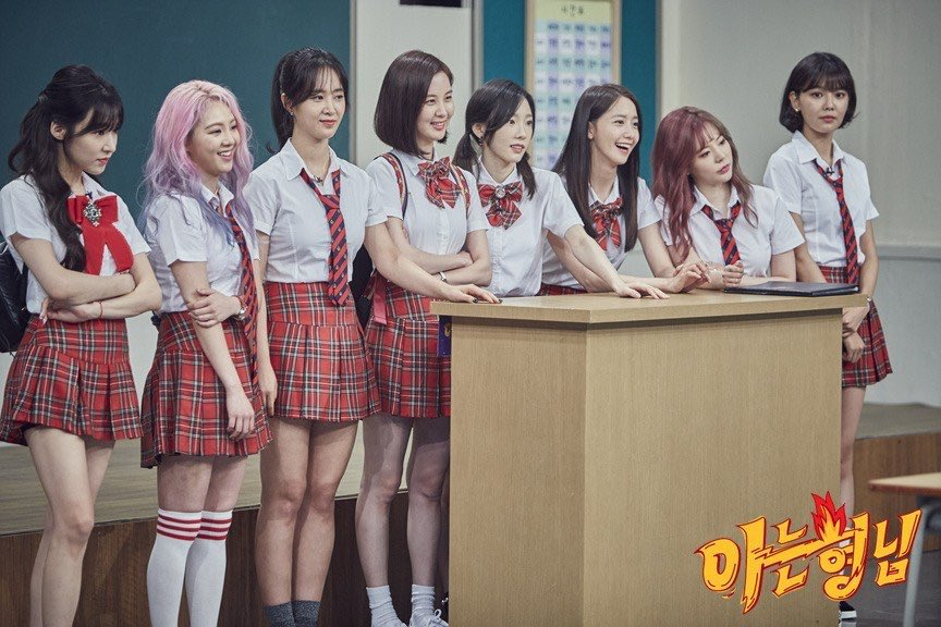 girl groups who visited knowing brothers without using name tags. imagine being this relevant to the point the whole nation knows you.