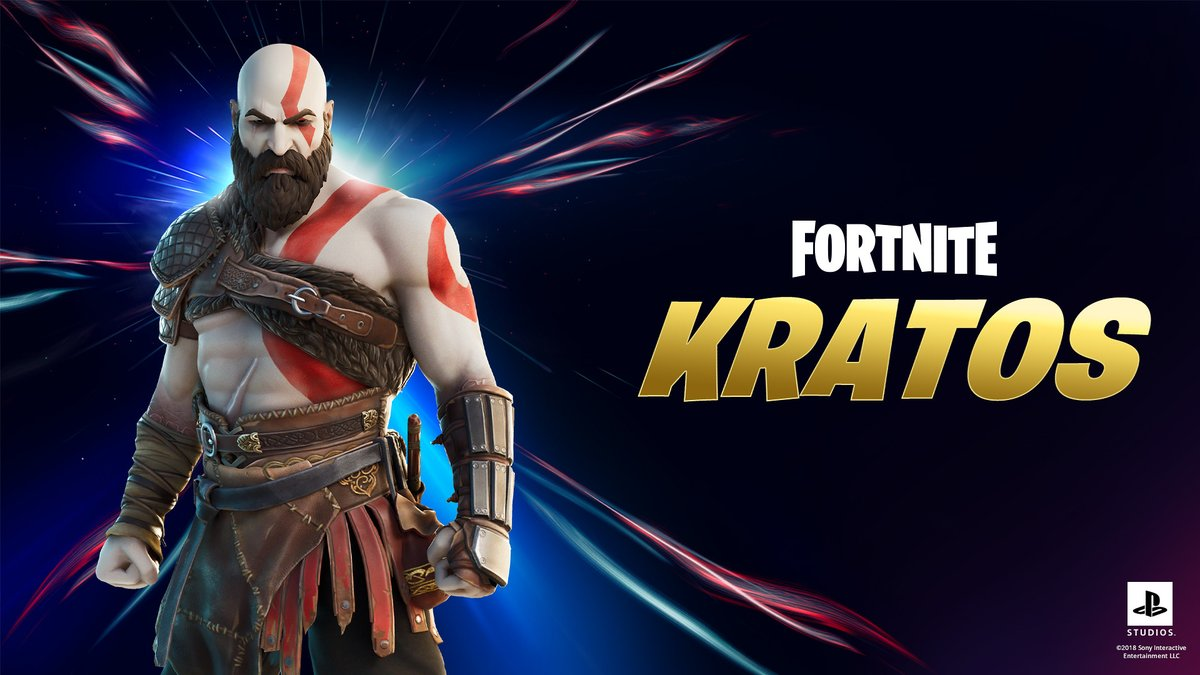 Join the hunt as Kratos in Fortnite Chapter 2's fifth season: https://t.co/8vFWI1DT6y  The PlayStation icon enters Epic's battle royale today. https://t.co/g4rJvj5L0y