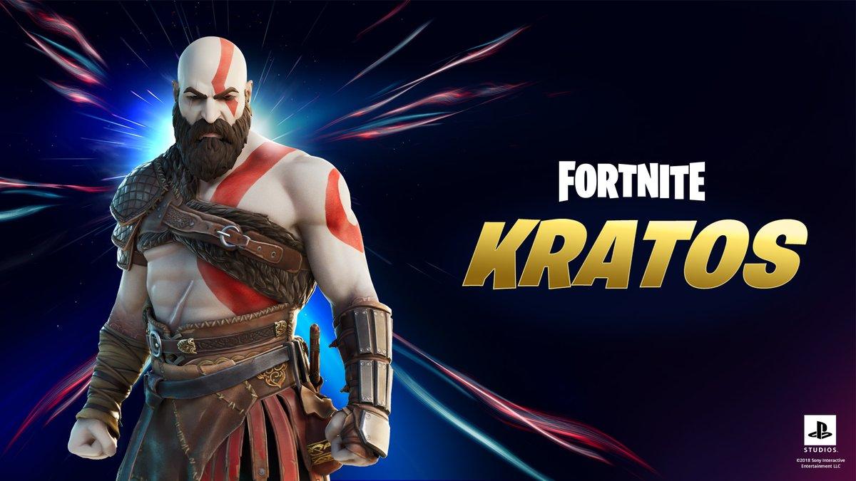 Se viene 😎🎮 #Kratos en #Fortnite