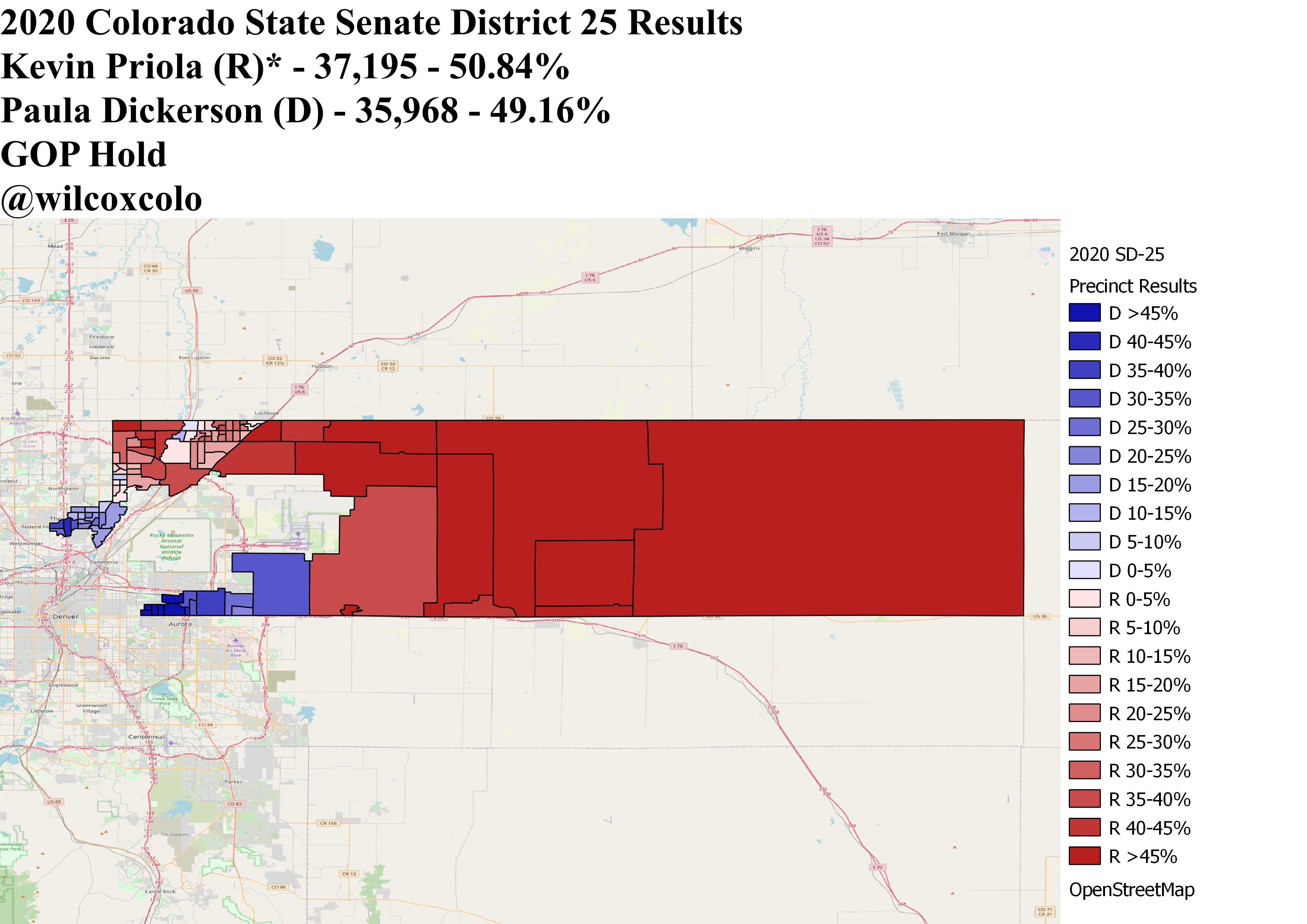 Precinct map shows deep blue city areas and deep red rural areas