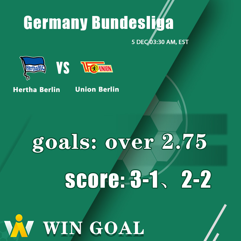 Events: Germany Bundesliga Team:Hertha Berlin vs Union Berlin Goals: Over 2.75 For more expert predictions, click to download: https://t.co/egj3VQFq5T https://t.co/76Zp2laA6x