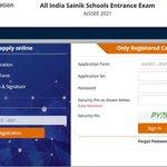 Image for the Tweet beginning: AISSEE 2021: Sainik School application