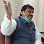 Image for the Tweet beginning: Shivpal Yadav calls Akhilesh Yadav's