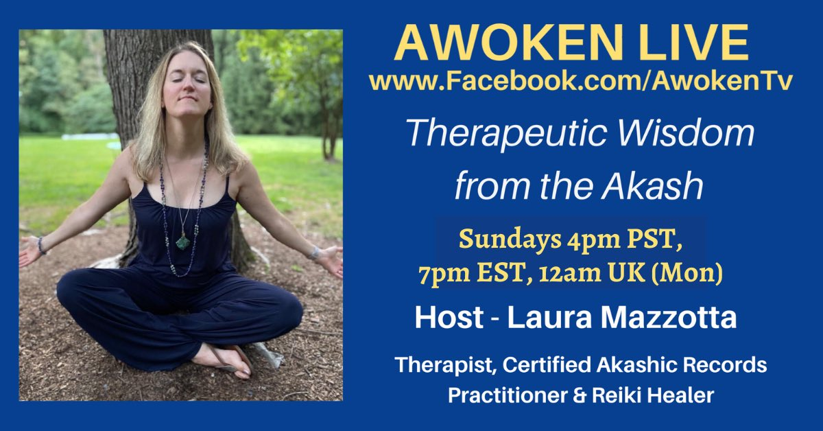 ✨THERAPEUTIC WISDOM FROM THE AKASH is moving to a new time!✨  Sundays at 4pm PST, 7pm EST, 12am UK (Mon) on  #healing #wellness #sundayvibes
