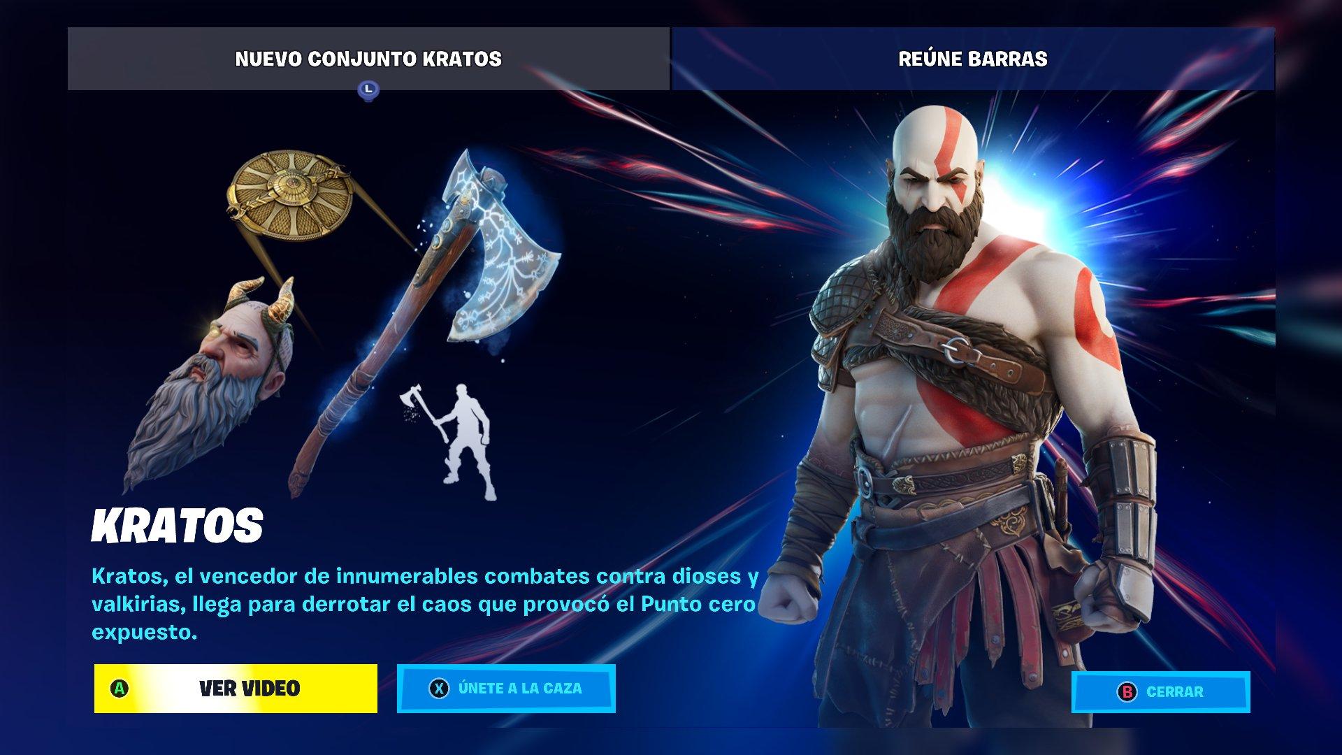 Ya puedes jugar con Kratos en tu Xbox Series X gracias a Fortnite
