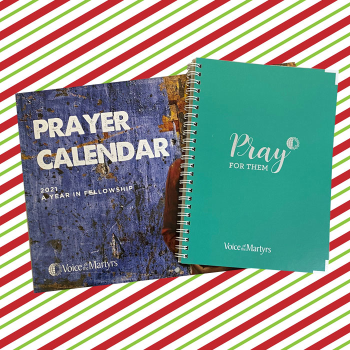 VOM's prayer calendar and planner make excellent gifts for Christian friends and family members.  Buy separately or buy together and save $5   #Christmas #Prayer #Gift