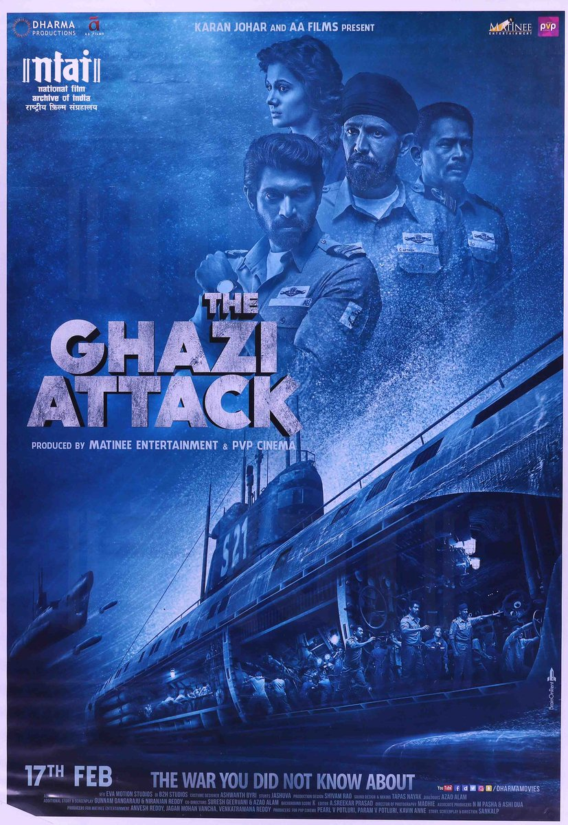 On the occasion of #IndianNavyDay we salute our brave naval warriors! A poster for The Ghazi Attack (2017), a thrilling underwater war drama based on true events narrates the tale of valour of Indian Navy. #Navy #NavyDay @indiannavy   @RanaDaggubati @kaykaymenon02  @atul_kulkarni