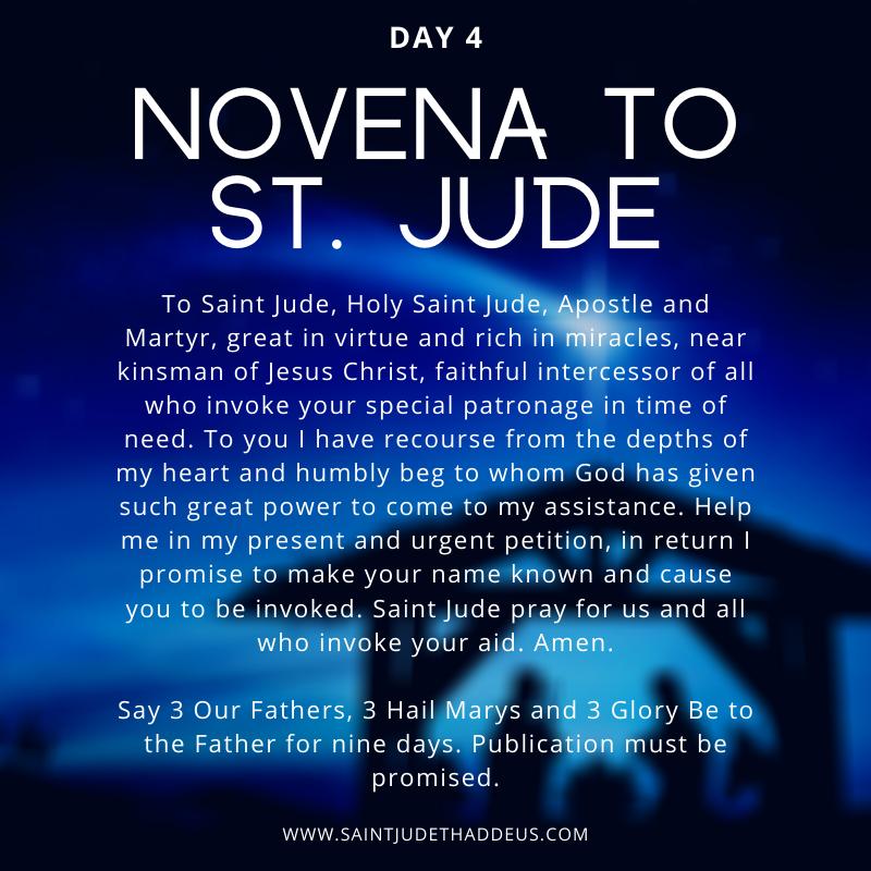 Day 4 - Novena to St. Jude    - - - #saintjude #novena #novenatostjude #stjude #stjudenovena #thankyoustjude #prayer #catholic #catholicfaith