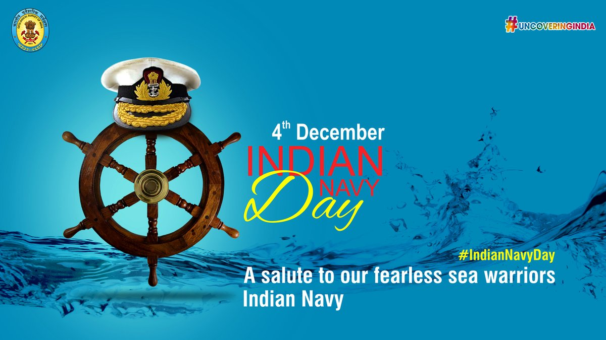#IndianNavyDay is celebrated on 4th December every year to remember the achievements of our Indian Naval Forces and thank them for their selfless service.  #GSI #IndianNavy https://t.co/nvFYcqDyVy