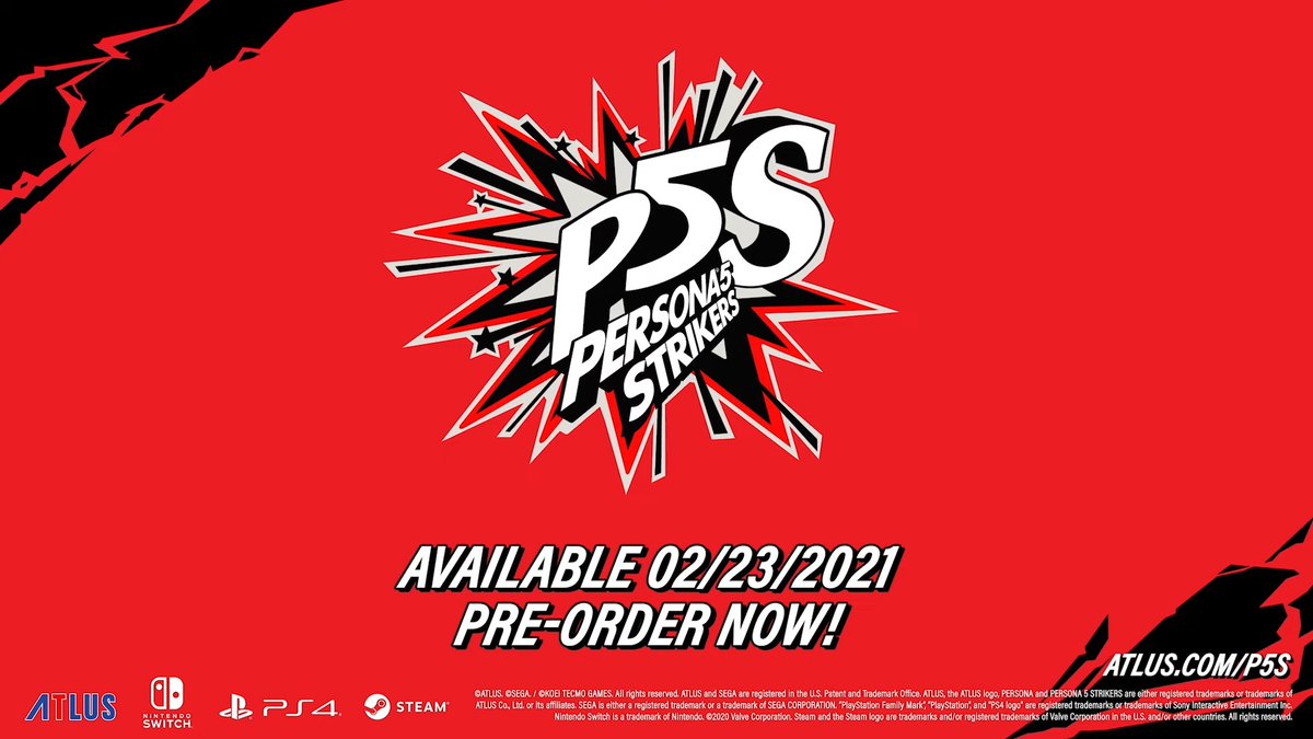 Persona 5 Strikers is releasing in the West on Feb 23rd for Switch/PS4/Steam 2