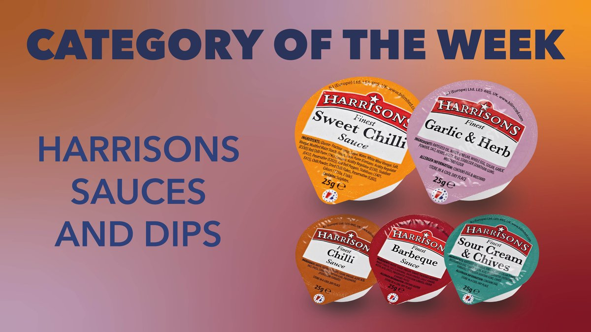 Harrison's Sauces and Dips have been chosen as our Category of the Week! Get yours today from Magna Foodservice  #SweetChilli #Sauces #dips #garlicandherb #chilli #categoryoftheweek #barbeque #sourcream #flavours #sides #toppings #extras #sides #pizzatime #pizzafriday