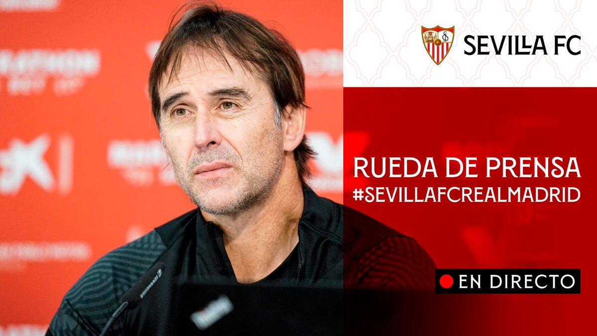 🚨 Rueda de prensa de Julen Lopetegui 🚨 EN DIRECTO 📡    📺  📲  💻   #WeareSevilla #SevillaFCRealMadrid