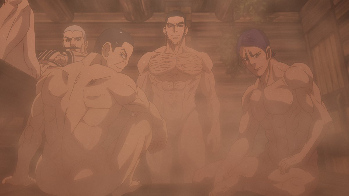 ゴールデンカムイとストライクウィッチーズ。 両方とも今期アニメで「サウナに入る」という全く同じシーンをやってるのに、肌色成分が桁違いなのでどちらがドスケベアニメなのかは確定的に明らか。