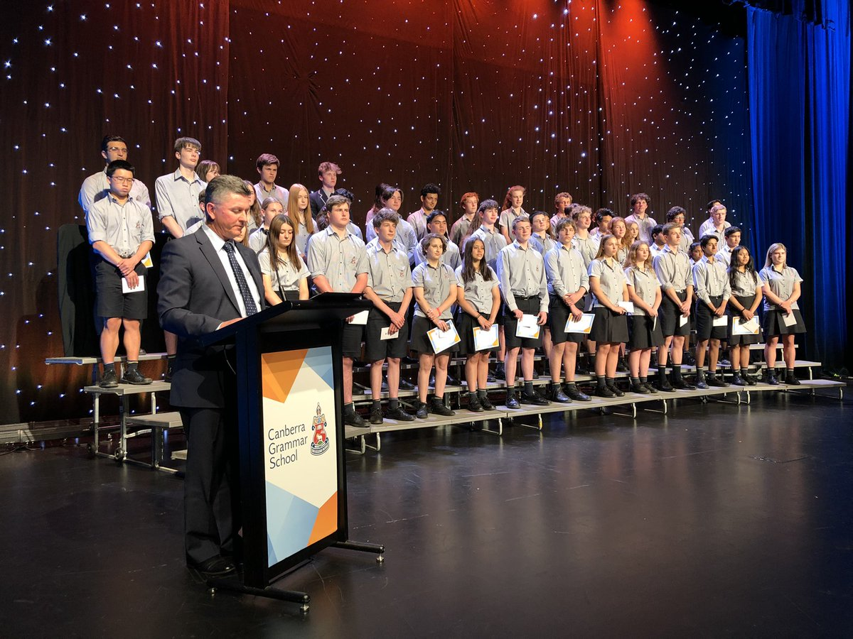 Big congratulations to all award winners, speakers, musicians, dancers, videographers, tech crews & more who made today's @CanberraGrammar Senior School Presentation Day so special. A tribute to the spirit of a School rising above 2020. Bring on 2021. Have a great break everyone!
