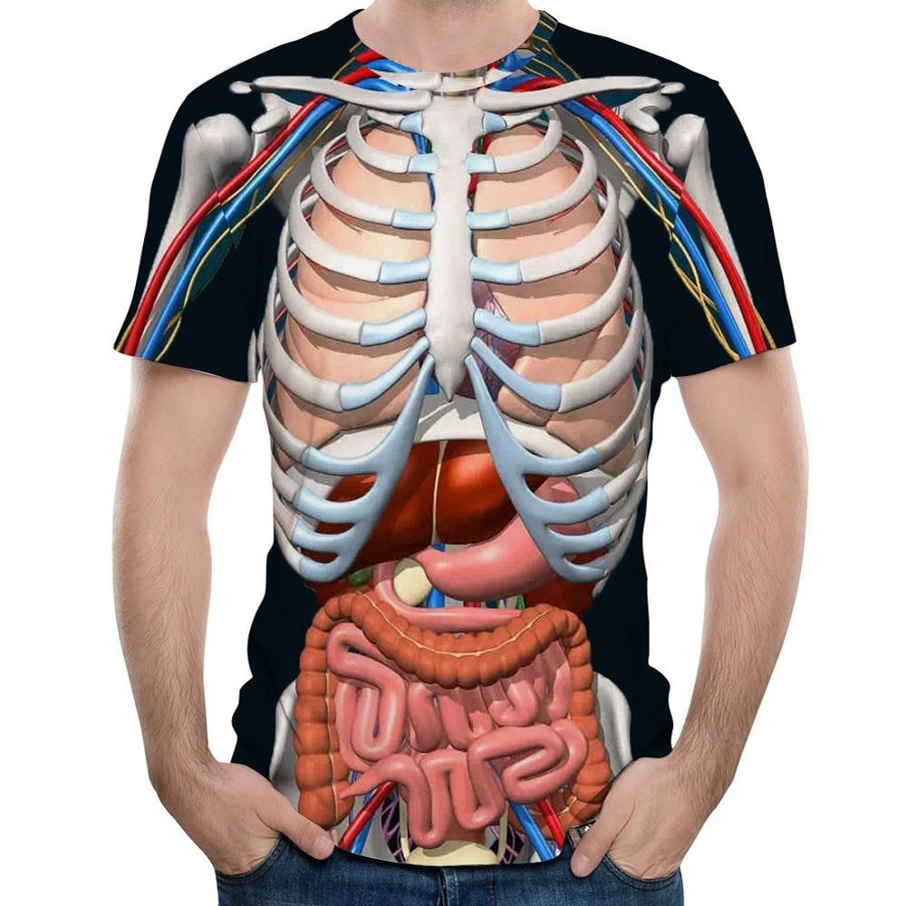 #tee 2018 New Fashion Male Skeleton Internal Organs 3D Printed Round Neck Short-Sleeved T-Shirt Anime Funny Halloween Men T Shirt https://t.co/GGowRUlEOx https://t.co/64VMPMNY5D