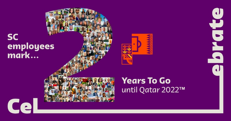 SC employees have marked #2YearsToGo until #Qatar2022 by taking selfies to create a unique and commemorative collage.