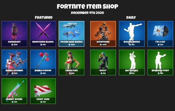 Here is todays item shop!  We got Kratos in the shop today!   Whats your thoughts on todays shop?   #Fortnite