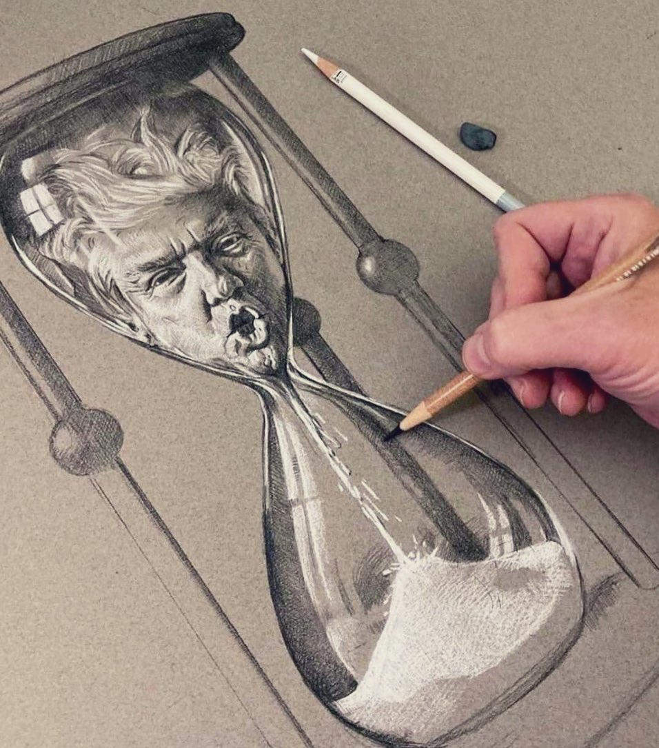 Don't know who drew this, but it's a perfect depiction of #Trump's final weeks in office. Kudos!   #election2020 #transition https://t.co/cmOtV4zWkw