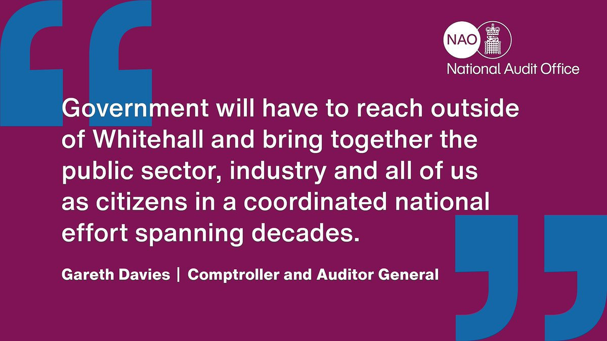 @beisgovuk To ensure all of government steps up to the net zero challenge, @beisgovuk will need to put in place:  ✅ Integrated planning ✅ Progress monitoring ✅ Processes to manage interdependencies ✅ Engagement with industry and citizens  #NetZero (2/2)