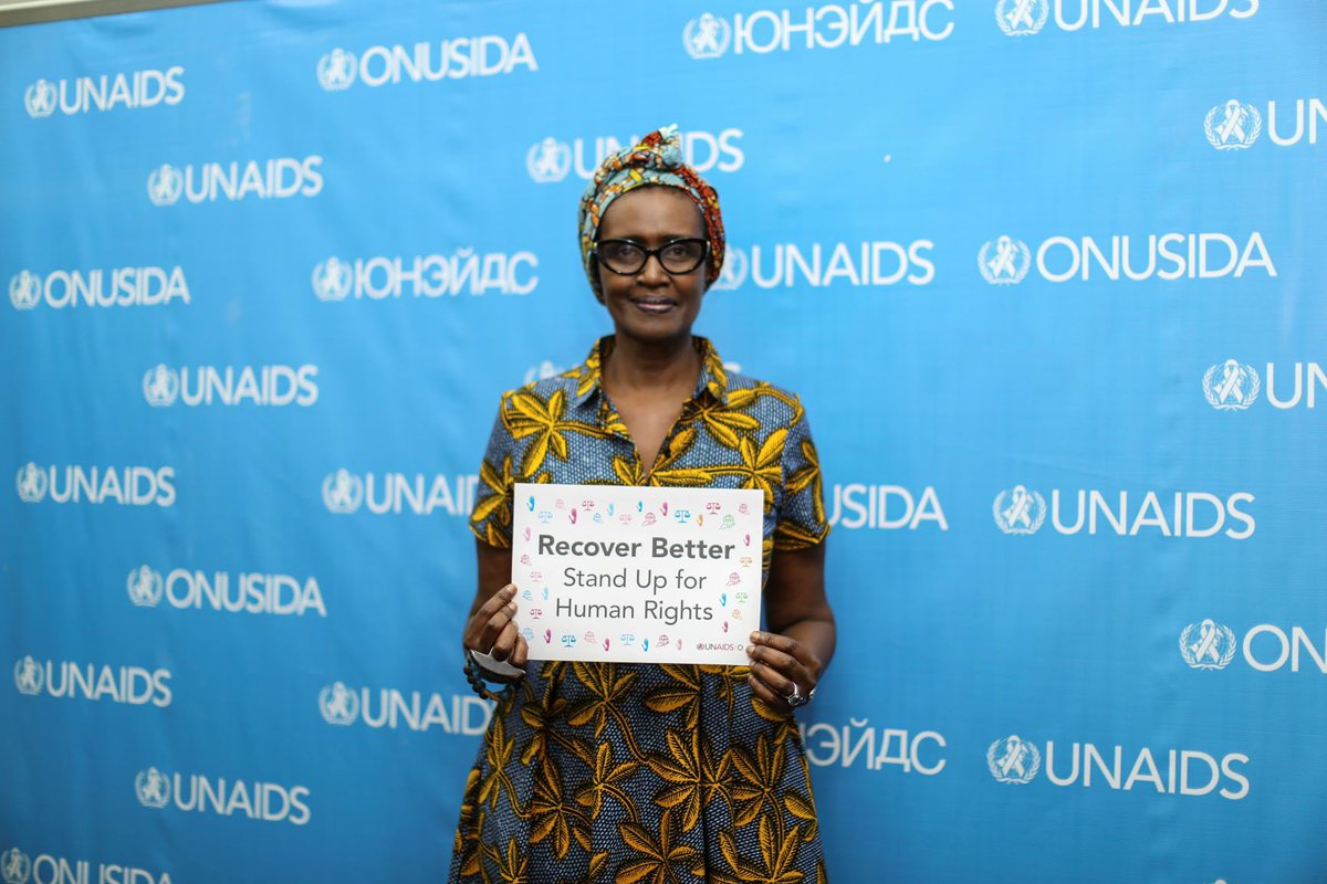 Let us all put human rights at the heart of our efforts to #RecoverBetter from #COVID19 and beat #AIDS   I nominate  @Malala,  @maureenmurenga and  @SukiBeavers to join in this challenge, and invite you all to do the same.  #StandUp4HumanRights with me, @UNHumanRights & @UNAIDS https://t.co/TyyK2752Bj https://t.co/6HXbBP3Xr6