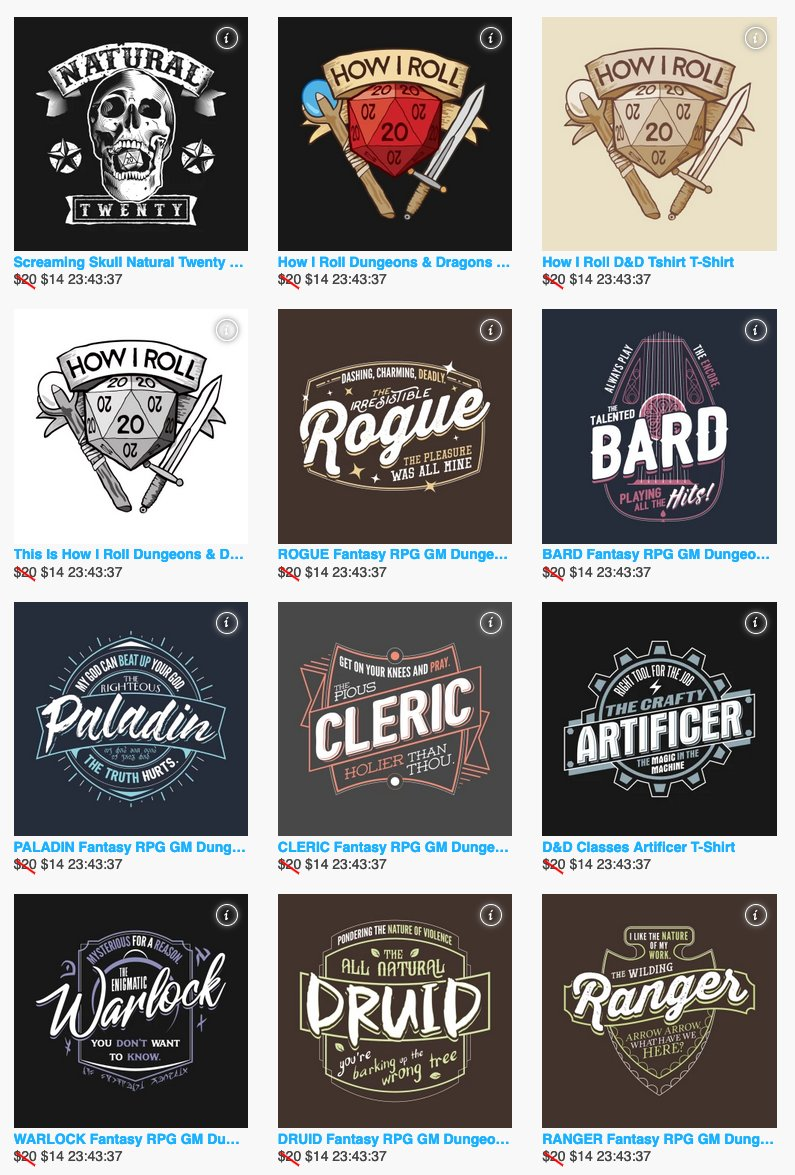 Oh #CriticalRole is trending? Please check out our awesome shop of sweet D&D gear - tshirts, notebooks, stickers and more! Order in time for the holidays!   #CriticalRoleSpoilers
